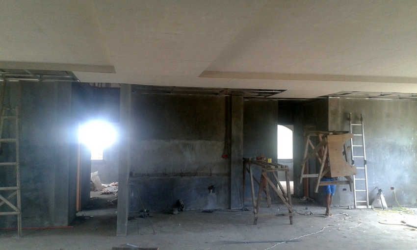 progress on our new ceiling in the Philippines continues