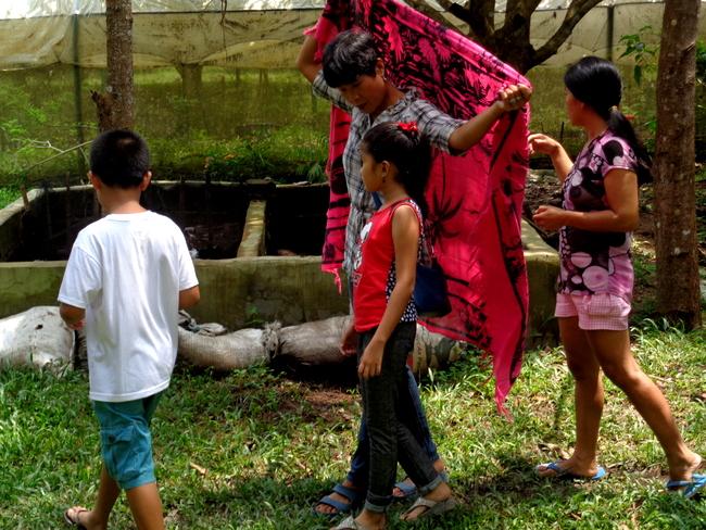 our guide shows us around wonder farms, guimaras
