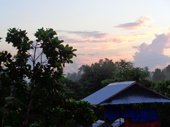 sunrise over the dog shelter in guimaras