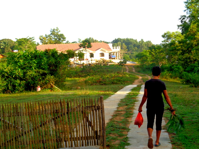 walking down the path to our new home in the philippines