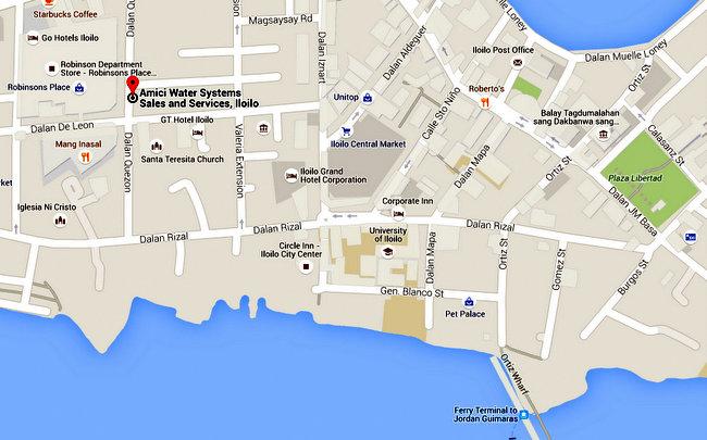 Ferry Terminal to Jordan Guimaras to pool supplies iloilo Google Maps