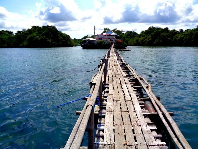 floating bridge at seafdec, guimaras