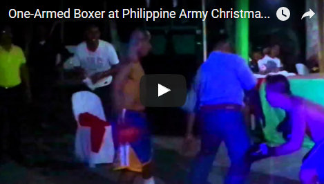 One-Armed Boxer in the Philippine Army Celebrates Christmas