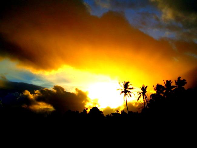 sunrise over guimaras,philippines