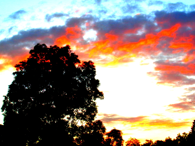 sunset over guimaras