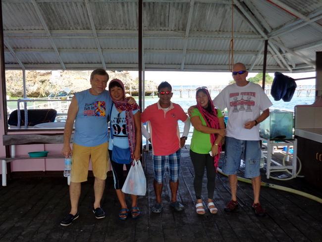 the crew at seafdec
