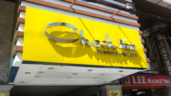 check in pension arcade in bacolod
