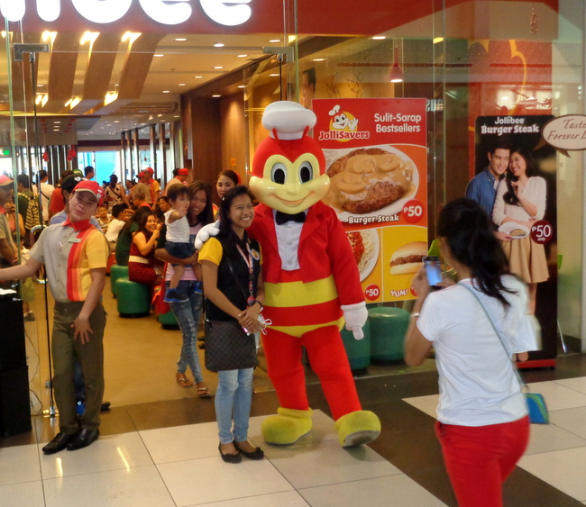 jollibee mascot at sm city bacolod
