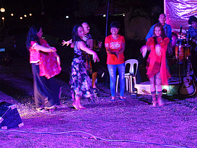 dancers at the Chinese New Year celebration at Mango Terrace in Guimaras