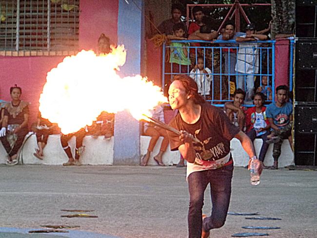 fire eater at guimaras fiesta