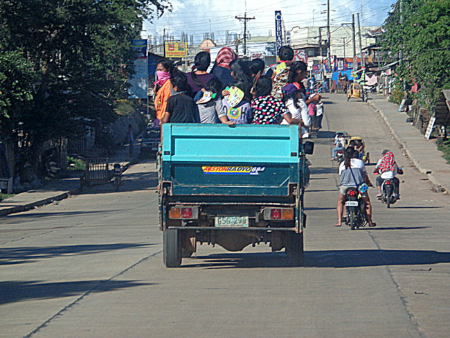 ride to the cemetary in Guimaras