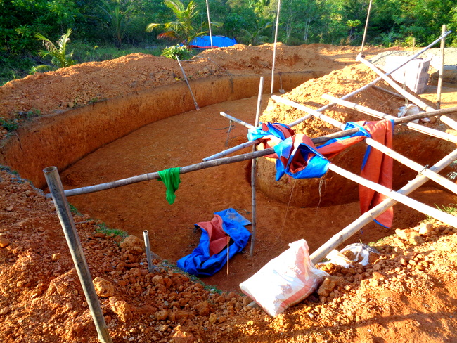 work continues on our new pool in the philippines