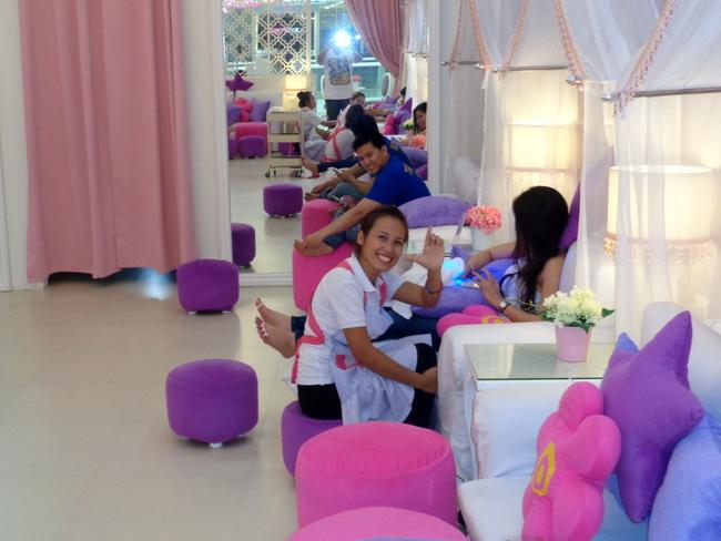 the staff at posh nails sm seaside cebu