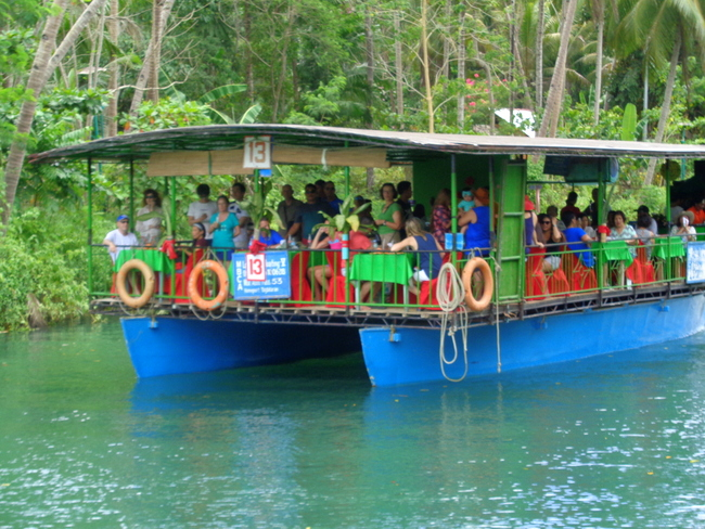 another floating resto on loboc river cruise