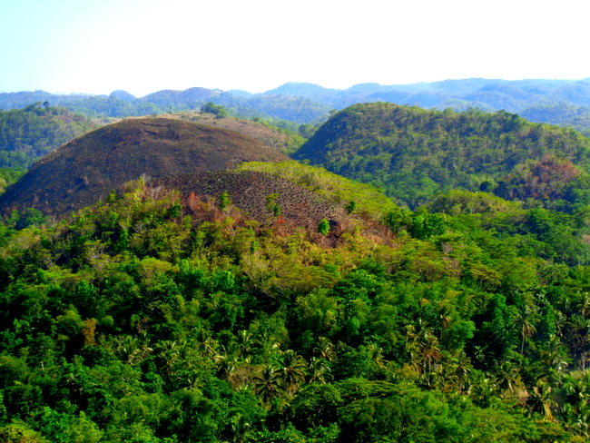 another view chocolate hills bohol