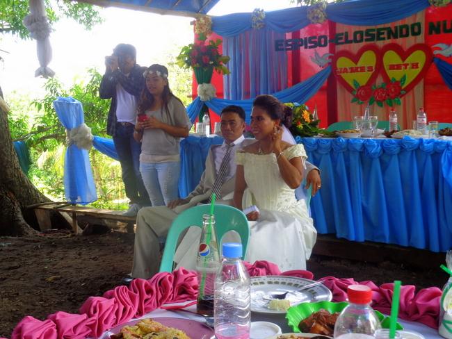 bride and groom at the Filipino wedding