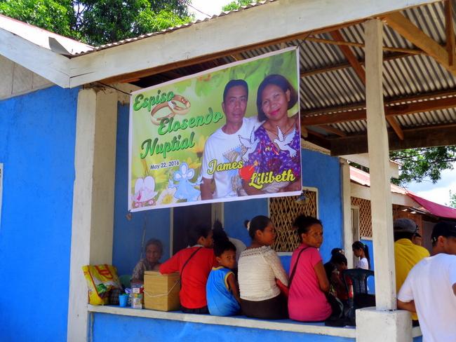 the Filipino wedding reception begins