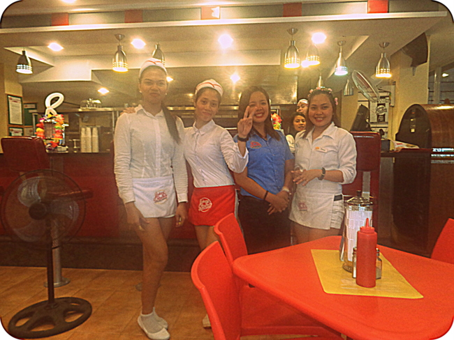 Johnny Rockets waitresses in Boracay