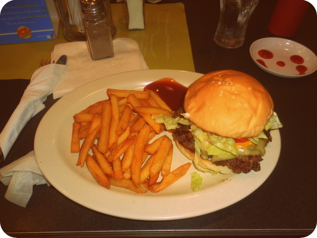 a delicious Original Burger at Johnny Rockets in Boracay