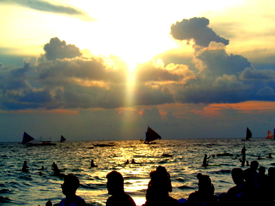 beautiful sunset station  boracay
