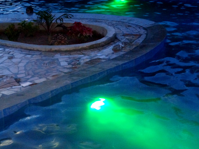 led underwater lights in our new pool in the philippines