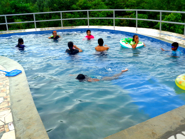 our new swimming pool in the philippines