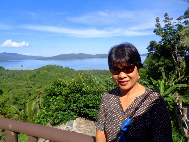 My lovely asawa overlooking the Underground River Palawan