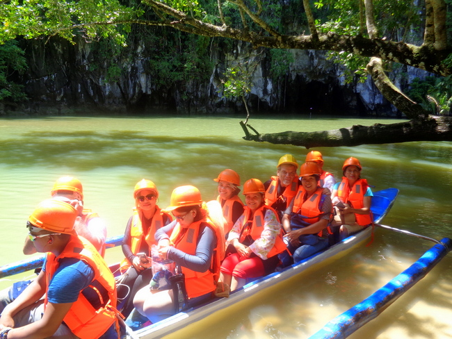 our crew heading out to underground river tour palawan