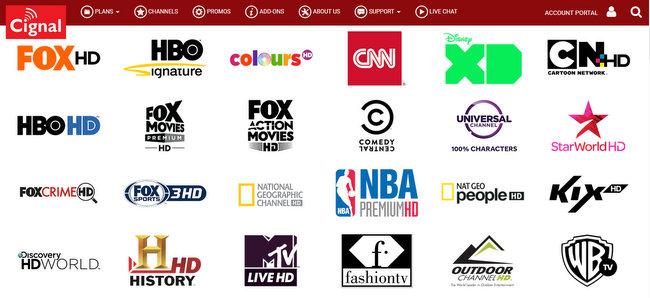 CIGNAL TV HD channels