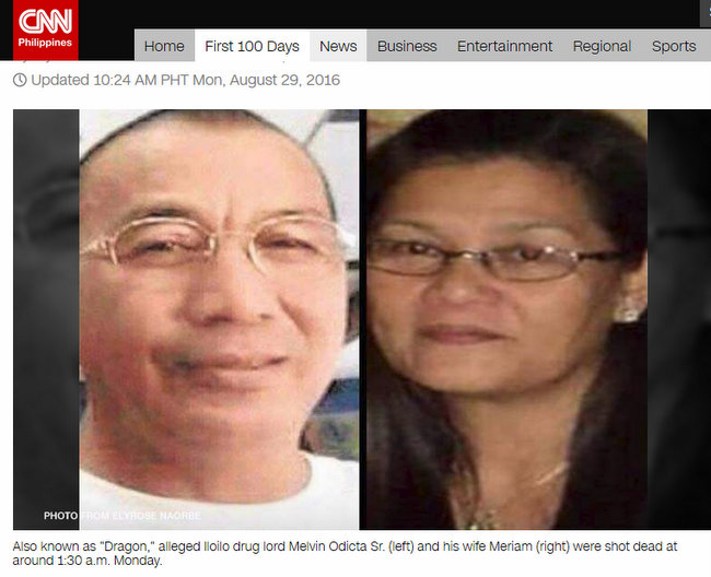 Alleged Iloilo drug lord Melvin Odicta wife shot dead Caticlan Jetty Port