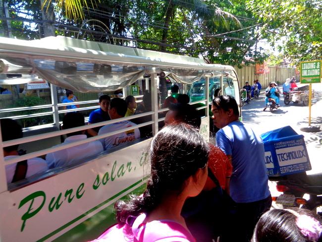 solar bus in boracay