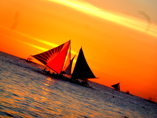 breathtaking boracay sunset