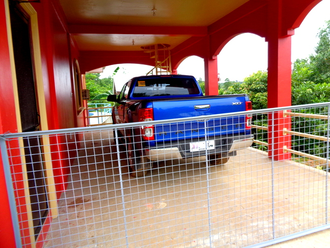 ford ranger and the gate