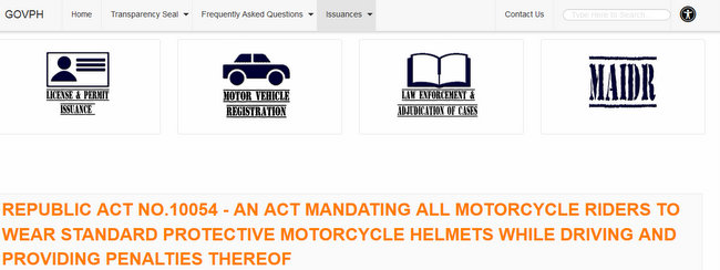 Republic Act Motorcyle Helmet Law
