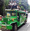 jeepney in Guimaras loaded up with school kids on top - Speeding Guimaras Jeepneys Crash; 17 injured
