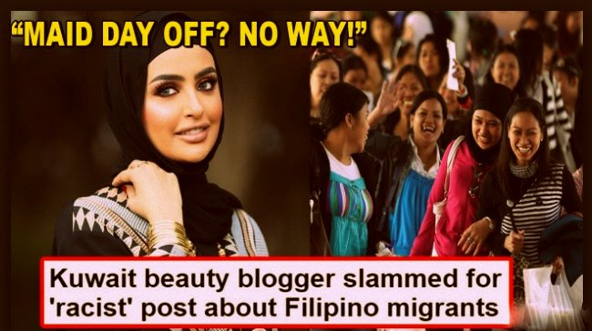 Kuwaiti Beauty Blogger Promotes Filipino Slavery