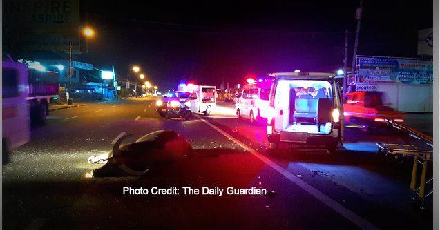 1 person hurt as ambulance hits carabao The Daily Guardian 637x334 - Ambulance Carrying Pregnant Woman Hits Pregnant Carabao