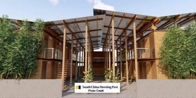 CUBO four hour bamboo house 668x334 - Amazing Low Cost 4-Hour Bamboo House