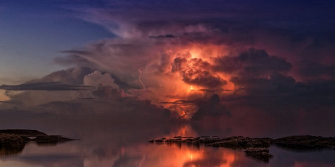 Thunderstorm Ocean Twilight Free photo on Pixabay 668x334 - PAGASA predicts more Frequent May Thunderstorms