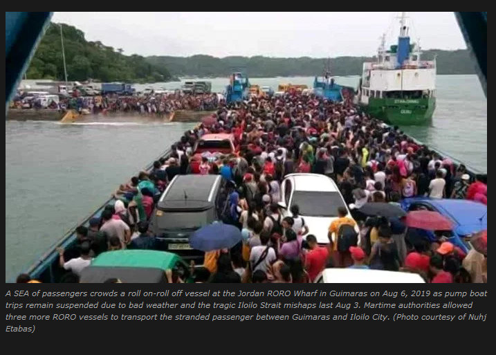 UK warns vs sea travel amid Iloilo Strait tragedy Daily Guardian - Pump Boats Suspended Indefinitely, Fast Craft to Ply Iloilo-Guimaras Route