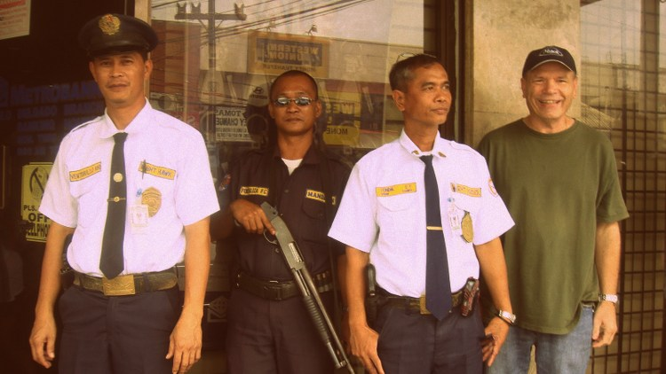 "with armed bank guards in Iloilo City - ""Your Beard Doesn't Look as Crappy"""